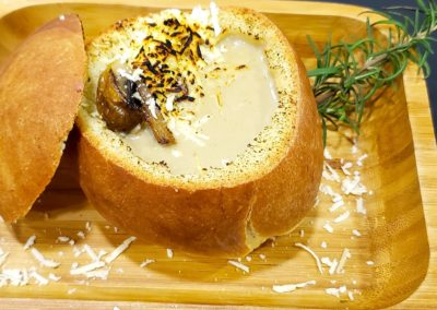 Mushroom and onion cream